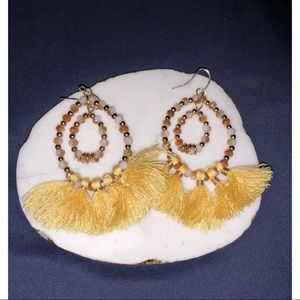 Jewelry - Yellow tassel earrings
